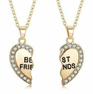 Jewelry - Best Friends Heart Pendants.
